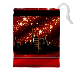 City Silhouette Christmas Star Drawstring Pouches (xxl)