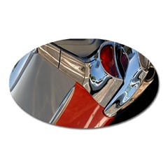 Classic Car Design Vintage Restored Oval Magnet