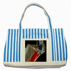 Classic Car Design Vintage Restored Striped Blue Tote Bag