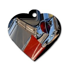 Classic Car Design Vintage Restored Dog Tag Heart (Two Sides)