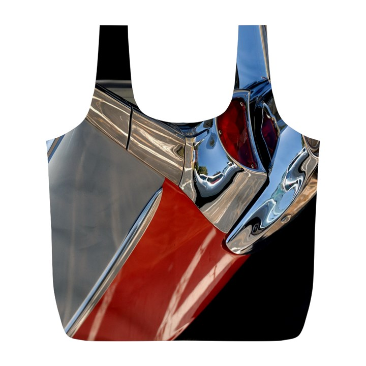Classic Car Design Vintage Restored Full Print Recycle Bags (L)