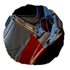 Classic Car Design Vintage Restored Large 18  Premium Flano Round Cushions