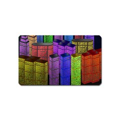 City Metropolis Sea Of Light Magnet (name Card)