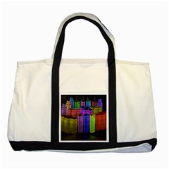 City Metropolis Sea Of Light Two Tone Tote Bag