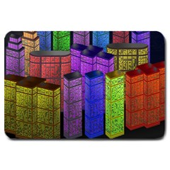City Metropolis Sea Of Light Large Doormat