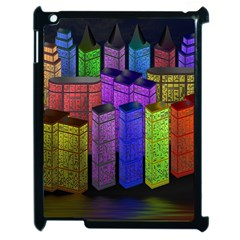 City Metropolis Sea Of Light Apple iPad 2 Case (Black)