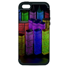 City Metropolis Sea Of Light Apple iPhone 5 Hardshell Case (PC+Silicone)