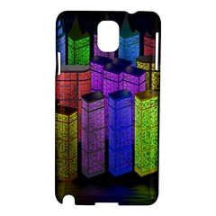 City Metropolis Sea Of Light Samsung Galaxy Note 3 N9005 Hardshell Case