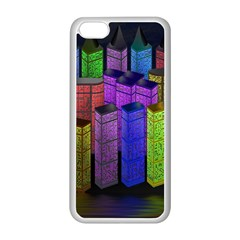 City Metropolis Sea Of Light Apple Iphone 5c Seamless Case (white)