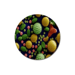 Colorized Pollen Macro View Magnet 3  (Round)