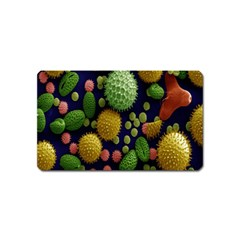 Colorized Pollen Macro View Magnet (name Card)