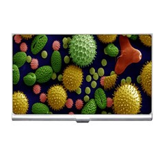 Colorized Pollen Macro View Business Card Holders