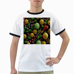 Colorized Pollen Macro View Ringer T-Shirts