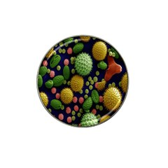 Colorized Pollen Macro View Hat Clip Ball Marker (10 pack)
