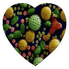 Colorized Pollen Macro View Jigsaw Puzzle (Heart)