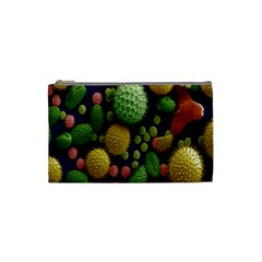 Colorized Pollen Macro View Cosmetic Bag (Small)