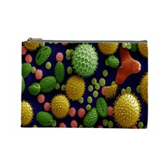 Colorized Pollen Macro View Cosmetic Bag (Large)