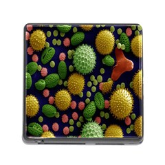 Colorized Pollen Macro View Memory Card Reader (Square)