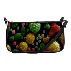 Colorized Pollen Macro View Shoulder Clutch Bags