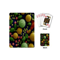 Colorized Pollen Macro View Playing Cards (Mini)