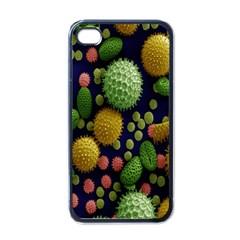Colorized Pollen Macro View Apple iPhone 4 Case (Black)