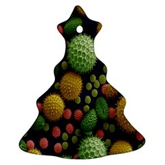 Colorized Pollen Macro View Christmas Tree Ornament (Two Sides)