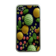Colorized Pollen Macro View Apple iPhone 4 Case (Clear)