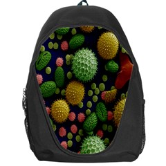 Colorized Pollen Macro View Backpack Bag
