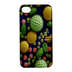 Colorized Pollen Macro View Apple iPhone 4/4S Hardshell Case with Stand