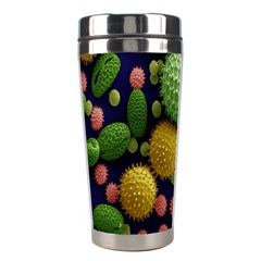 Colorized Pollen Macro View Stainless Steel Travel Tumblers
