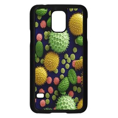 Colorized Pollen Macro View Samsung Galaxy S5 Case (Black)