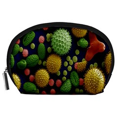 Colorized Pollen Macro View Accessory Pouches (Large)