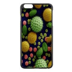 Colorized Pollen Macro View Apple iPhone 6 Plus/6S Plus Black Enamel Case