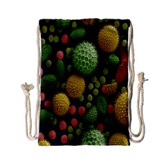 Colorized Pollen Macro View Drawstring Bag (small)