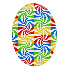 Colorful Abstract Creative Ornament (Oval)