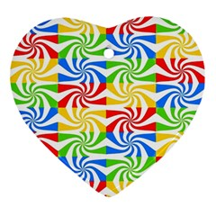 Colorful Abstract Creative Ornament (heart)