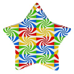 Colorful Abstract Creative Ornament (Star)