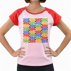 Colorful Abstract Creative Women s Cap Sleeve T-Shirt