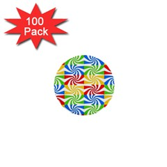 Colorful Abstract Creative 1  Mini Buttons (100 pack)