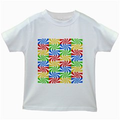 Colorful Abstract Creative Kids White T-Shirts