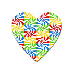 Colorful Abstract Creative Heart Magnet