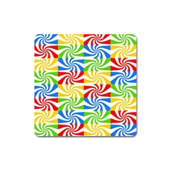 Colorful Abstract Creative Square Magnet