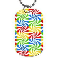Colorful Abstract Creative Dog Tag (One Side)
