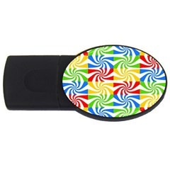 Colorful Abstract Creative USB Flash Drive Oval (2 GB)