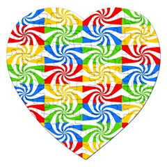 Colorful Abstract Creative Jigsaw Puzzle (heart)