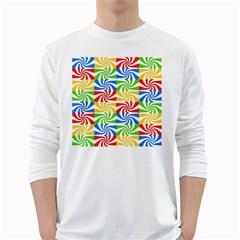 Colorful Abstract Creative White Long Sleeve T-Shirts