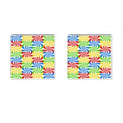 Colorful Abstract Creative Cufflinks (Square)