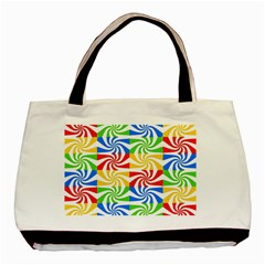 Colorful Abstract Creative Basic Tote Bag