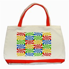 Colorful Abstract Creative Classic Tote Bag (Red)