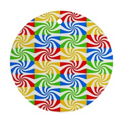Colorful Abstract Creative Round Ornament (Two Sides)